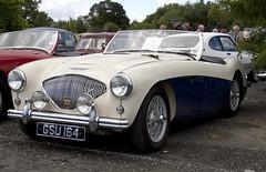 aston martin db2(0.0), austin-healey 3000(0.0), jaguar xk150(0.0), automobile(1.0), vehicle(1.0), automotive design(1.0), austin-healey 100(1.0), antique car(1.0), classic car(1.0), vintage car(1.0), land vehicle(1.0), sports car(1.0),