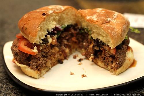rachel's lamb burger