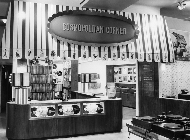 hmv 363 Oxford Street, London - Cosmpolitan Corner late 1950s