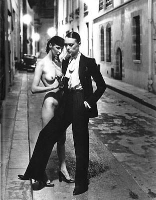 Photograph by Helmut Newton for Paris Vogue, 1975 by irisirisvox