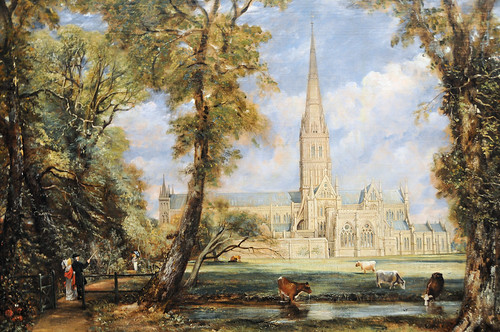 John Constable - Salisbury Cathedral from the Bishop's Grounds at New York Metropolitan Art Museum