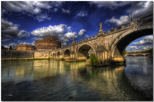 sky rome roma colors clouds reflections river nuvole fiume cielo tiber tevere colori riflessi hdr ghostbuster greatphotographers gigi49 allegrisinasceosidiventa gigilivornosfriends ponteecastelsantangelo