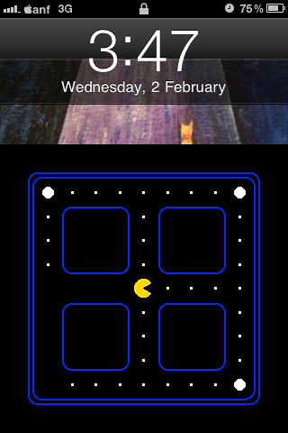 Pac-man Android lock for iPhone