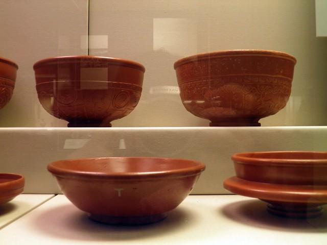 Samian Wares (Terra sigillata), Roman Britain, British Museum