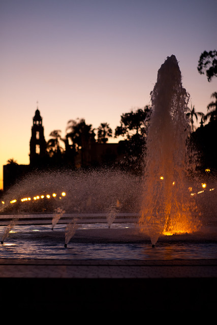 Fountain at Sunset
