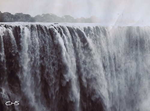 Rhodesia 1905  The main Victoria Falls. by Claire Stocker (Stocker Images)