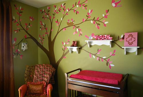 """""""Abigail Grace"""" #2 Nursery Tree Mural"""