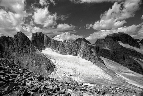 Dinwoody Glacier & Fremont Peak, Wind River Range, Rocky Mountains, Wyoming