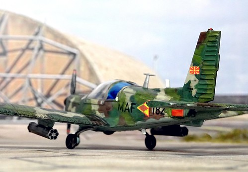 1:72 Zlín Z-142M, '182' of the Macedonian Aviation Brigade's  101. Avijaciska Eskadrila; Petrovec Air base, summer 2006 (Whif/modified Hobby Boss kit)