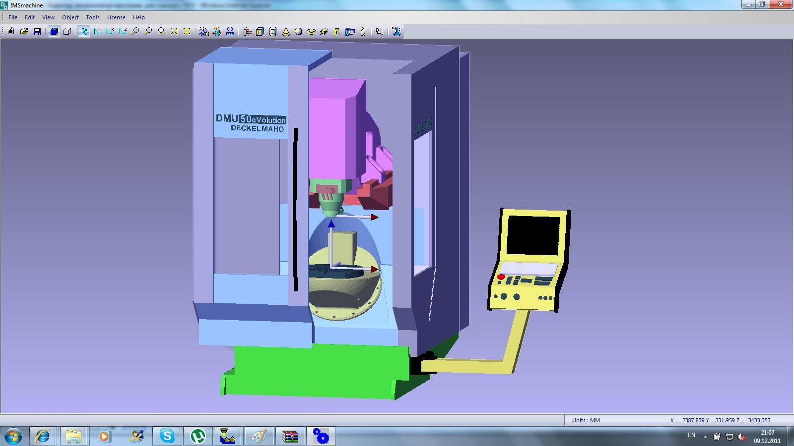 Simulation with IMSverify 2010 v4.3 machine