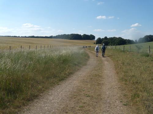 Approaching Normanton Down