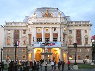 Image of Slovak National Theatre near Bratislava. theatre bratislava