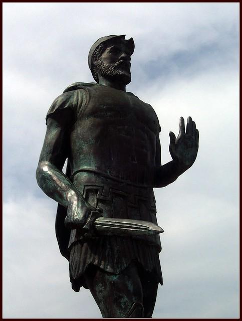 Miltiades statue, Marathon