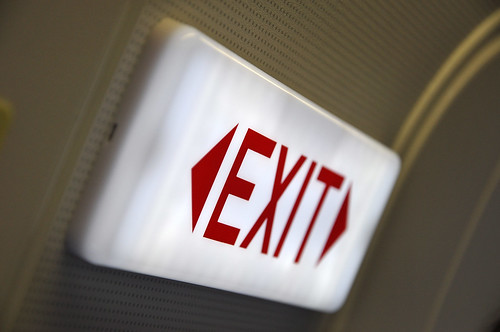 EXIT sign ..at 13A.