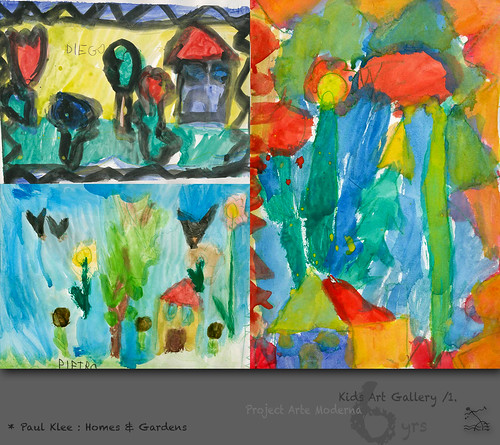 """6 yrs) _1* Paul Klee: """"Homes & Gardens"""" // Himmelsblüten über dem gelben Haus by SeRGioSVoX"""
