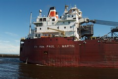 M/V Rt. Hon. Paul J. Martin Entering the Duluth Harbor