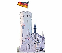 German flag on castle Lichtenstein