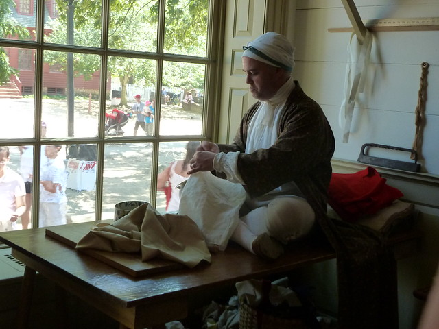 Colonial Williamsburg tailor