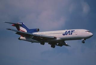 93ap - JAT Yugoslav Airlines Boeing 727-2H9; YU-AKI@ZRH;04.05.2000
