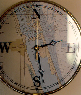 Ocean Village - Clock with Map