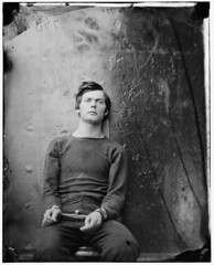 Lewis Payne, attempted to assasinate William Seward, hung as a 'Lincoln conspirator,' by Alexander Gardner 1865