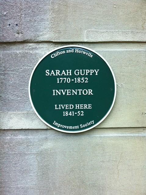 Photo of Sarah Guppy green plaque