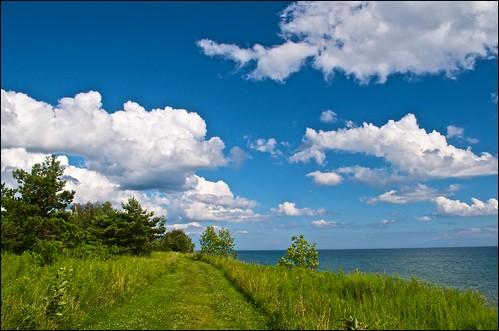 ontario clouds geese lakeontario cobourg lucaspointpark