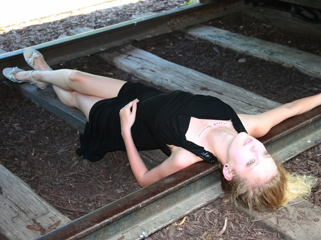 Little Black Dress, Lines of the Tracks, Gorgeous Blonde