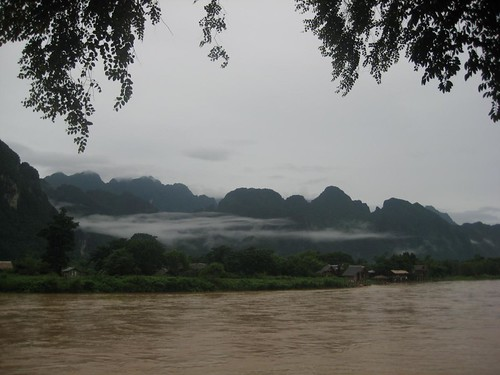 Riverview from Hotel Ban Sabei in Vang Vieng