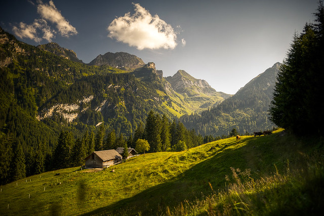 Swiss Farm House In The Mountains Flickr Photo Sharing