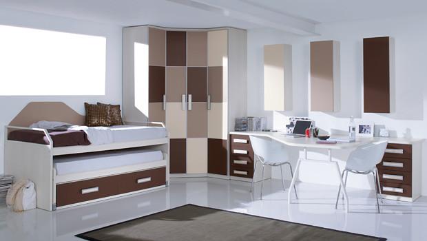 Whynot new catalogo de muebles de dormitorio juvenil - Habitacion marron ...