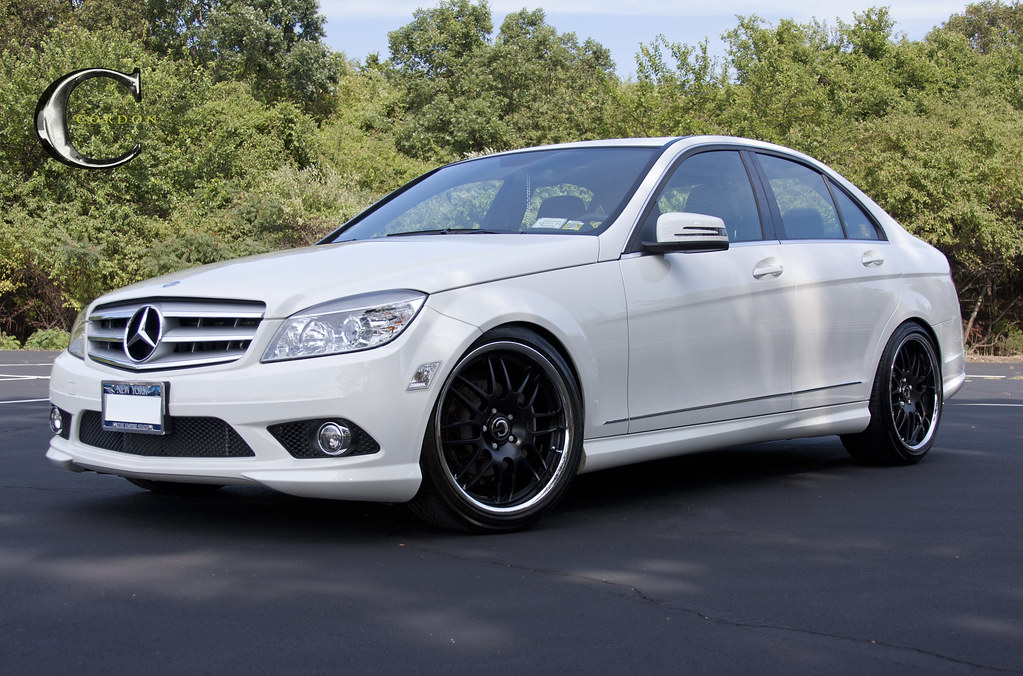 my cordon swag white benz on black rims mercedes c300
