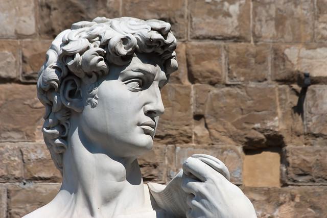 Florence - Marble David in Piazza della Signoria
