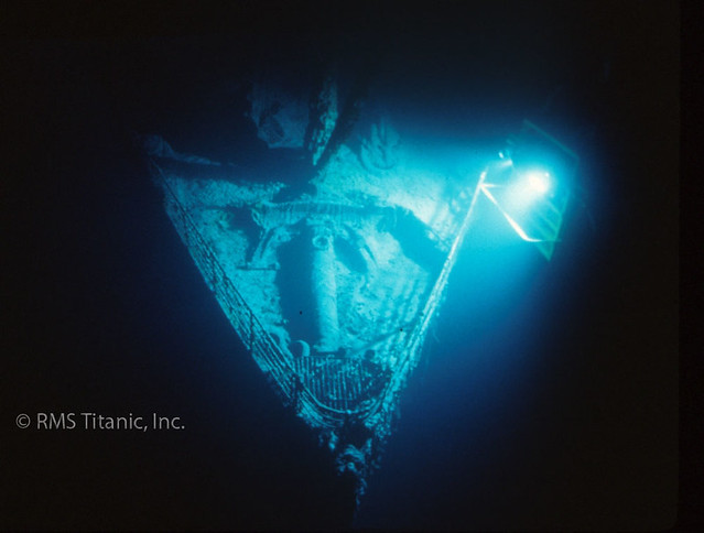 1996 - Titanic Bow lit by Edison light tower