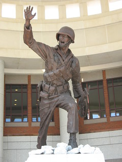 "The ""Follow Me"" statue in Infantry Hall at Fort Benning, GA"