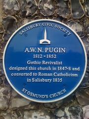 Photo of Augustus Pugin blue plaque