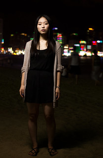 Imagine de Gwangalli Beach (광안리해수욕장) Gwangalli Beach lângă Suyeong-gu. light black color beach girl female hair lights one 1 li sweater student scary rainbow sand university neon pretty bright sandals flash young style william korea an symmetry led study korean rodrigues cloths andres olsen strobe 20s beautyful umbrealla gwang 광안리 이미경 migyoung