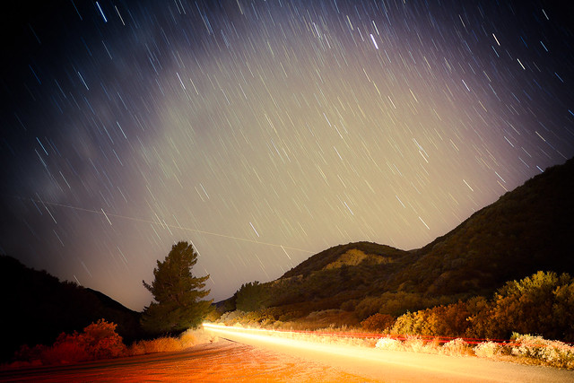 Perseid Meteor Shower - Above Ojai California