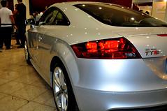 executive car(0.0), family car(0.0), automobile(1.0), automotive exterior(1.0), audi(1.0), wheel(1.0), vehicle(1.0), automotive design(1.0), rim(1.0), auto show(1.0), audi tt(1.0), bumper(1.0), land vehicle(1.0), coupã©(1.0), sports car(1.0),