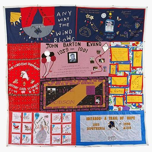 Aids Quilt  White Cat