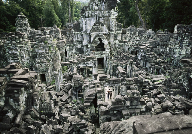 View of Preah Khan, Cambodia, Angkor, Angkor Wat, 1998, by Steve McCurry