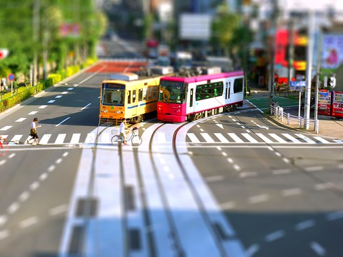 Toden Arakawa Line tilt-shift 都電荒川線 ティルトシフト