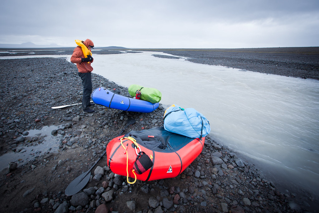 Launching the packrafts