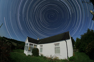 Full moon star trails, Galloway, 25/8/10 | by Dangerous Dave Astrophotography