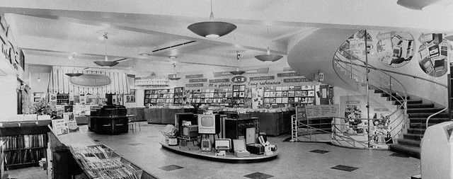 hmv 363 Oxford Street, London - Shop floor 1950s