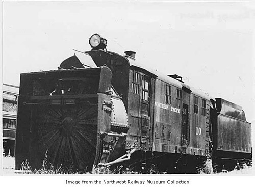 Northern Pacific steam rotary snowplow #10, Auburn, ca. 1960