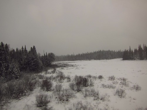 The stillness of the remote Northern Ontario winter