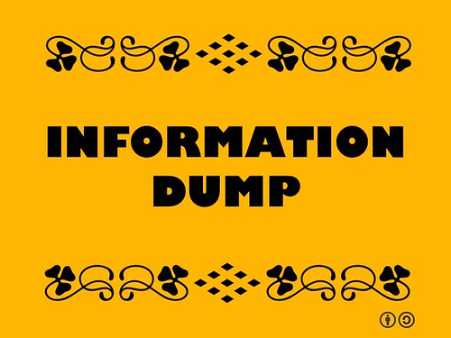 Buzzword Bingo: Information Dump = A mess, a midden, often a wiki #buzzwordbingo