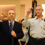 Lieutenant General Benny Gantz and Defense Minister Ehud Barak