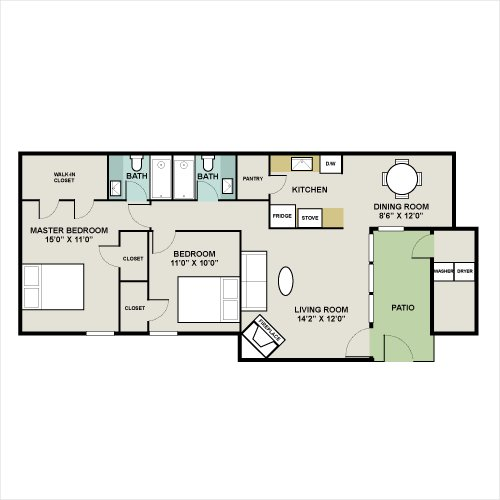 Woods Of Inverness Apartments Maple Floor Plan